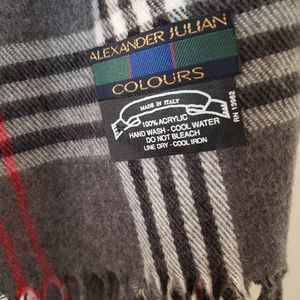 Alexander Julian Accessories - Alexander Julian Plaid Fringed Scarf Colours